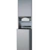 Bobrick B-3942 ClassicSeries® Semi Recessed Convertible Paper Towel Dispenser and Waste Receptacle