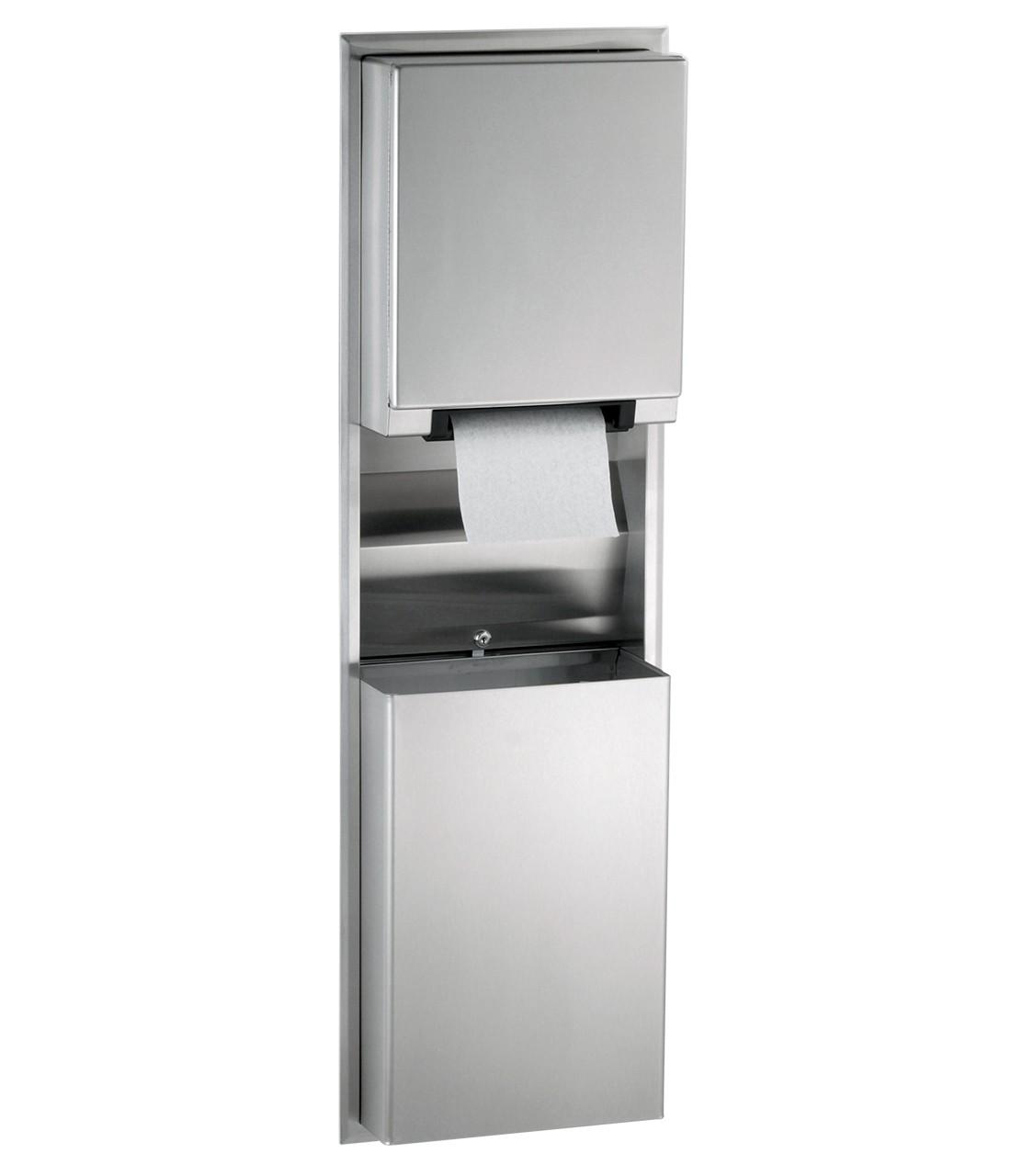 Bobrick Model B 3974 Paper Towel Dispenser Waste