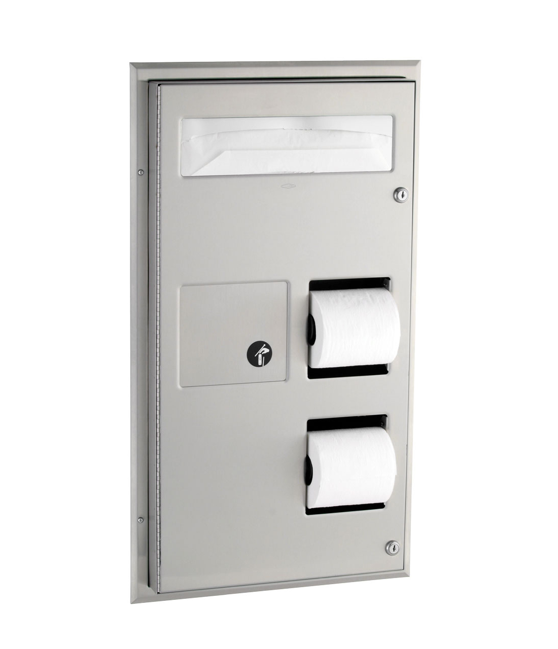 Bobrick B 357 Toilet Seat Cover Dispenser Toilet Paper Holder