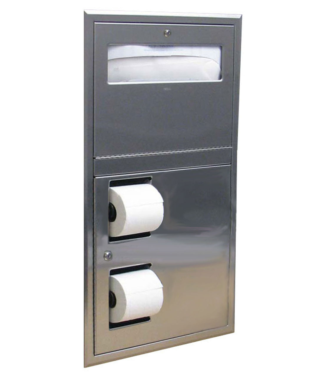 bobrick 819844 recessed toilet seat cover and toilet tissue dispenser - Bobrick Toilet Paper Dispenser