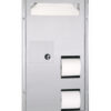 Bobrick B-35715 ClassicSeries® Partition Mounted Sanitary Napkin Disposal, Seat Cover and Toilet Tissue Dispenser