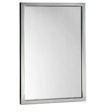 "Bobrick B-290 1830 Welded-Frame Glass Mirror 18"" x 30"""