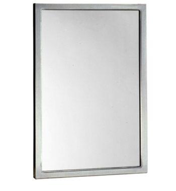 "Bobrick B-290 2430 Welded-Frame Glass Mirror 24"" x 30"""