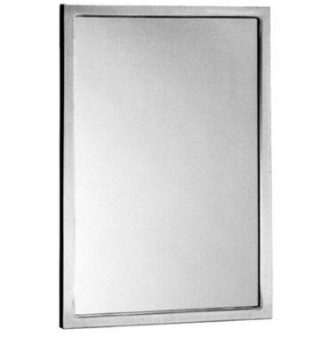 "Bobrick B-290 2460 Welded-Frame Glass Mirror 24"" x 60"""
