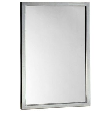 "Bobrick B-290 2472 Welded-Frame Glass Mirror 24"" x 72"""