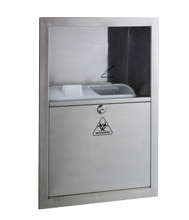 Bobrick B-35016 Recessed Sharps Disposal