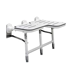 Bobrick B-918116L Left Side Configured Bariatric Fold-Down Shower Seat
