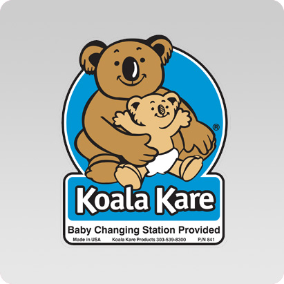 Koala Kare KB841 Restroom Door Label