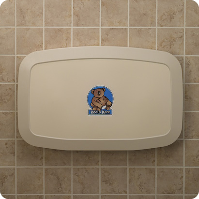 Koala Kare KB200-00 Horizontal Wall-Mounted Baby Changing Station - Cream