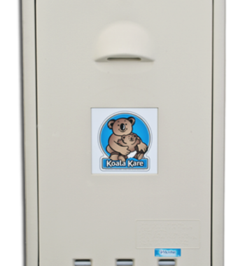 Koala Bear KB101-00 Vertical Wall-Mounted Baby Changing Station - Cream