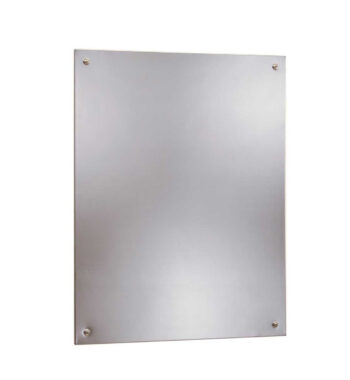 Bobrick B-1556 2436 Frameless Stainless Steel Mirror