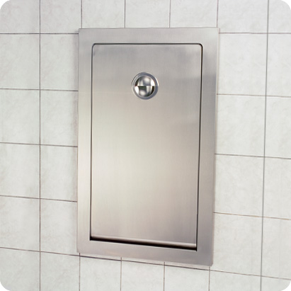 Koala Kare KB111-SSRE Vertical Stainless Steel Recess Mounted Baby Changing Station