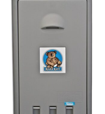 Koala Bear KB101-01 Vertical Wall-Mounted Baby Changing Station - Grey