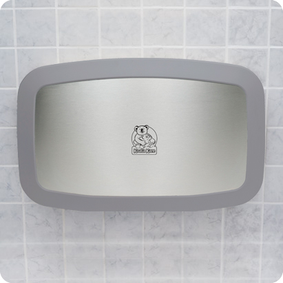 Koala Kare KB200-01SS Horizontal Baby Changing Station - Grey w/ Stainless Steel Veneer