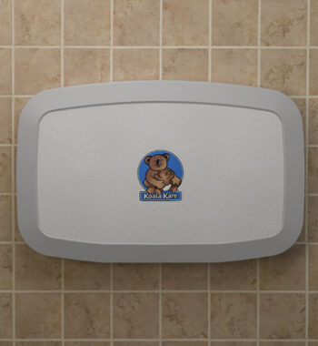 Koala Kare KB200-05 Horizontal Wall-Mounted Baby Changing Station - White Granite