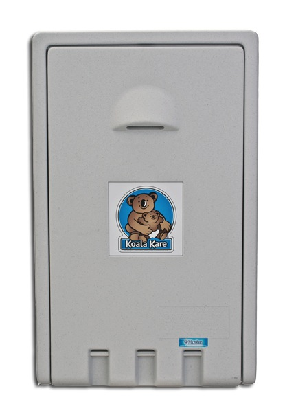 Koala Bear KB101-05 Vertical Wall-Mounted Baby Changing Station - White Granite