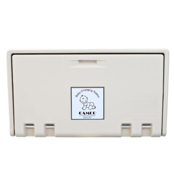 Gamco BCS-1 Horizontal Wall-Mounted Baby Changing Station - Cream