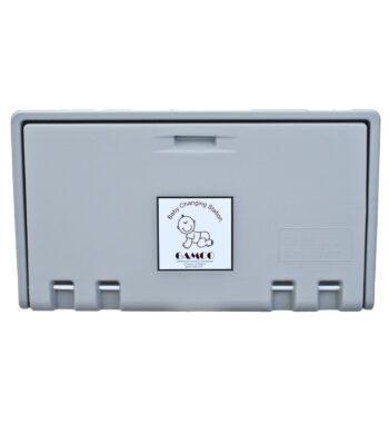 Gamco BCS-2 Horizontal Wall-Mounted Baby Changing Station - Grey