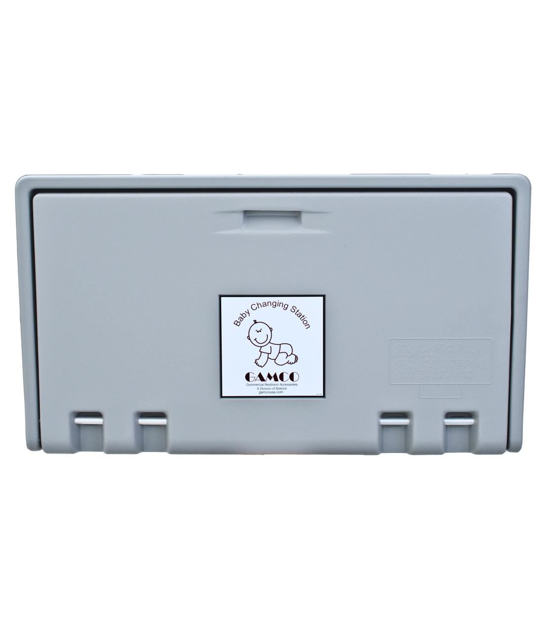 Gamco BCS-2 Horizontal Wall-Mounted Baby Changing Station - Grey