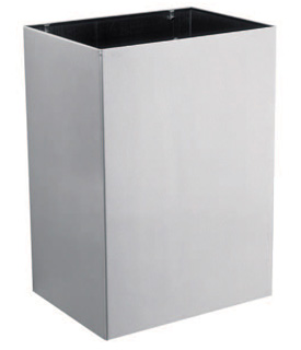 Gamco WR-2 Surface Mounted Waste Receptacle with Vinyl Liner - 7 gal