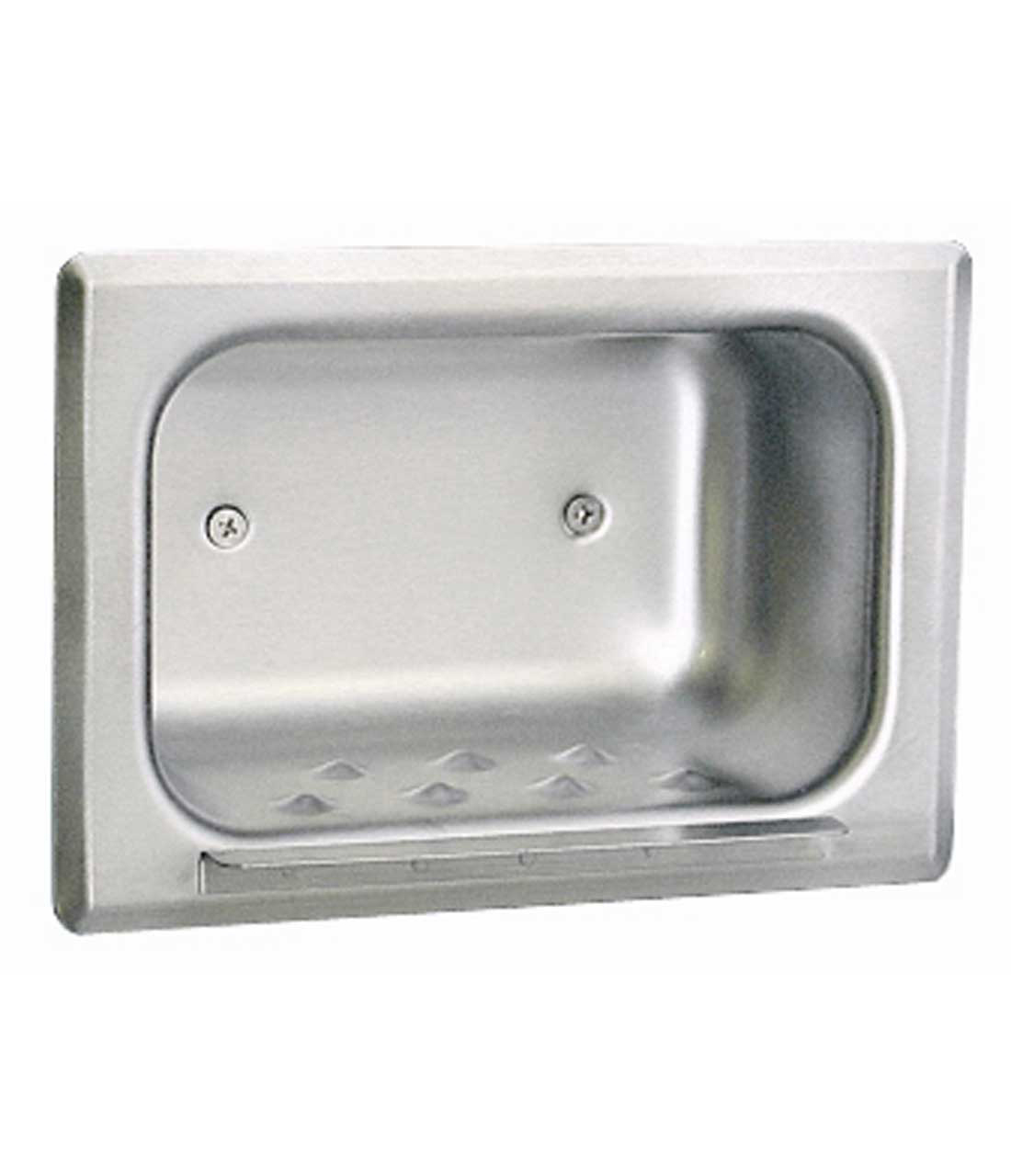 Bobrick Recessed Heavy Duty Soap Dish Part Number B 4380 Shower Tub Accessories Washroom Inc
